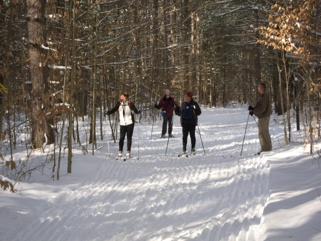 Enjoying XC Skiing in northern Michigan